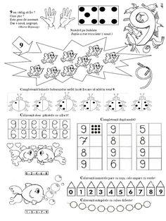 Numarul Si Cifra 9 FISA de LUCRU Cute Panda, Letters And Numbers, Maths, Diagram, School, 1st Grades
