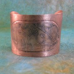 Etched Copper Cuff by SamanthaCreations on Etsy, $85.00