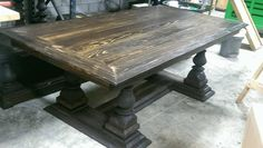 Massive turned leg table by Tnfarmhousefurniture on Etsy