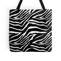 Zebra Black and White Animal Print