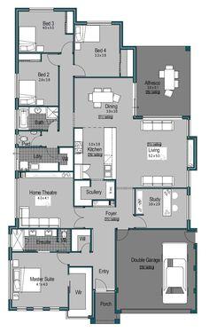 Riviera plan jpeg dream house plans, house floor plans, my dream home, New House Plans, Dream House Plans, House Floor Plans, My Dream Home, Building Plans, Building A House, Detail Architecture, House Blueprints, Sims House