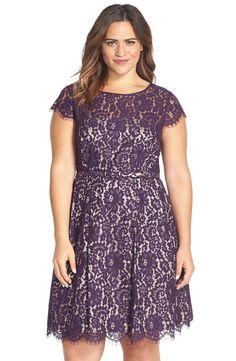 $188 Eliza J Lace Fit & Flare Dress (Plus Size)