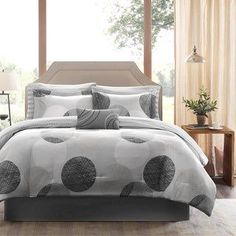 Madison Park Essentials Glendale Complete Comforter and Cotton Sheet Set #HomeDecorShops Full Comforter Sets, King Comforter, Home Decor Sites, Striped Bedding, Geometric Bedding, Bedding Sets Online, Cotton Sheet Sets, Cozy Bed, 1 Piece