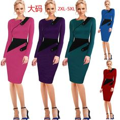 Cheap sheath dress, Buy Quality pencil dress directly from China dress fashion Suppliers: New Arrival Women One-Piece 2017 Bodycon Women Fashion Sheath Dress Office Lady Patchwork Tunic Knee Length Work Pencil Dresses Dresses Online Usa, Party Dresses Online, Formal Dresses For Women, Dresses For Work, Online Dress Shopping, One Piece For Women, Cheap Dresses, The Ordinary, Clothes For Women