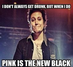 Synyster Gates. Avenged Sevenfold. Pink is the new black (black is the new fucking black!).