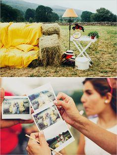 diy polaroid photo booth ideas #polaroid #impossibleproject http://www.weddingchicks.com/2013/12/16/wedding-in-northern-spain/