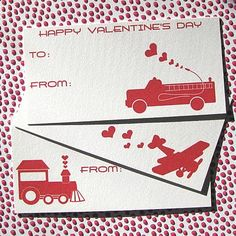 Little Vehicle Valentines