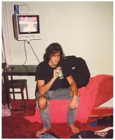 Krist Novoselic in Europe, 1991. Photograph by Matt Lukin bassist of the Melvins and later Mudhoney.