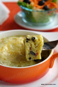 mugcake salado en microondas,con receta.