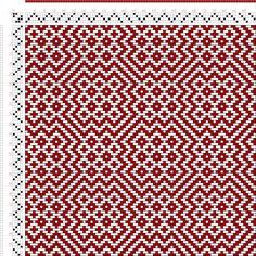 Weaving Draft Threading Draft from Divisional Profile, Tieup: Draft #24822, Tieup: , 2005, #61143 Weaving Designs, Weaving Projects, Weaving Patterns, Inkle Weaving, Tablet Weaving, Weaving Textiles, Tapestry Weaving, Latch Hook Rugs, Bead Crochet Rope