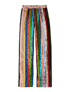 Alice + Olivia Meera Sequin Pajama Pant - Multi S Pretty Outfits, Beautiful Outfits, Cool Outfits, Big Fashion, Fashion Outfits, 2000s Fashion Trends, Pajama Outfits, Sequin Pants, Sassy Pants