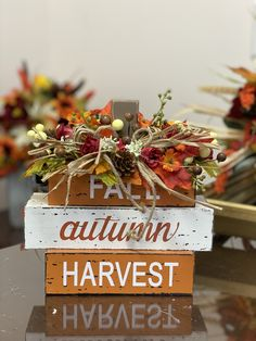 Fall table decor Fall Table, Harvest, Christmas Wreaths, Table Decorations, Holiday Decor, Flowers, Gifts, Home Decor, Presents