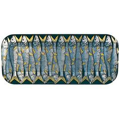FORNASETTI Sardine print tray