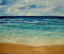 """""""The Sand And The Tide"""" original oil painting by Lisa Aerts 20x24 $300"""