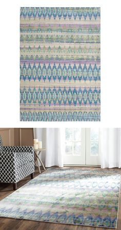 A palette of scintillating hues and a pattern of symmetrical shapes dancing across its surface make this Soaring Stars Rug a natural choice for a casual space. Energy radiates from a mix of blues, lave...  Find the Soaring Stars Rug, as seen in the #UrbanBohemia Collection at http://dotandbo.com/collections/urbanbohemia?utm_source=pinterest&utm_medium=organic&db_sku=113803