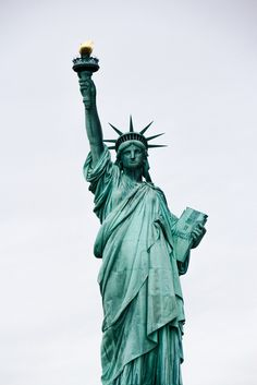 "New York City- The Statue of Liberty. ""Give me your tired, your poor, your huddled masses yearning to breathe free... "". Emma Lazarus."