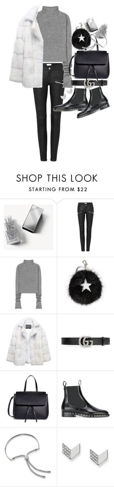 """""""Untitled #20829"""" by florencia95 ❤ liked on Polyvore featuring Burberry, Acne Studios, STELLA McCARTNEY, Lilly e Violetta, Gucci, Mansur Gavriel, Valentino, Monica Vinader and FOSSIL"""