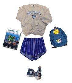 """""""skool"""" by heachbouse ❤ liked on Polyvore featuring Columbia and Converse"""