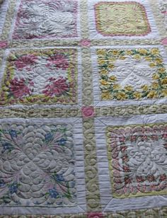 I have a bunch of my grandmother's hankies! Now, I need to learn how to quilt. Quilt made of vintage hankies | REPINNED.