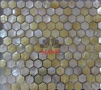 sea shell mosaic mother of pearl  tiles  natural yellow mesh-joint with seam hexagon original  fashion noble style hot sale