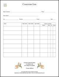 Cemetery log sheet - There is other information that is also helpful besides the log sheet. Genealogy Forms, Genealogy Chart, Genealogy Research, Family Genealogy, Family Tree Research, Family Tree Chart, Care Bears, Genealogy Organization, Organizing
