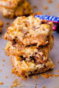 Caramel Snickers seven-layer bar