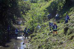 Limpeza do Rio Guaíra. Foto: Valdecir Galor/SMCS