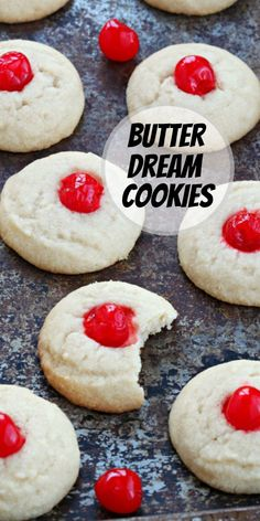 Butter Dream Cookies recipe from RecipeGirl.com #butter #dream #cookies #recipe #RecipeGirl Best Dessert Recipes, Candy Recipes, Cheesecake Recipes, Pie Recipes, Holiday Recipes, Cookie Recipes, Cookie Desserts, Fun Desserts, Dream Cookies Recipe