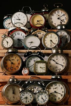 vintage clocks by claudia