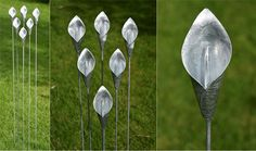 Exterior Calla lilies by Iron Vein designer makers  #steel #calla #lily #sculpture