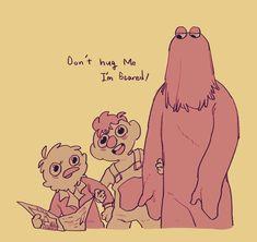Dont Hug Me, I Need A Hug, Becky And Joe, Theodd1sout Comics, Red Guy, Dhmis, Spooky Scary, Im Scared, Creative Colour