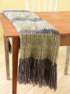 Free Craft Pattern 90718AD Loom Knit Afghan : Lion Brand Yarn Company