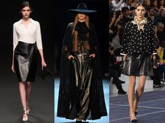 Paris Fashion Week: Leather