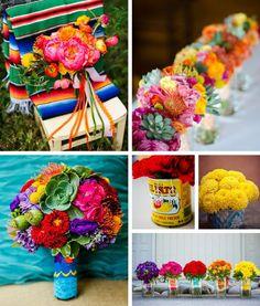 Mexican wedding flower ideas