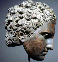 Roman, Head of an Athlete (Apoxyomenos) c. 2nd–1st century B.C.E. Hellenistic or Roman, probably after Lysippos (Greek, c. 365–c. 310 B.C.) Kimbell Art Museum