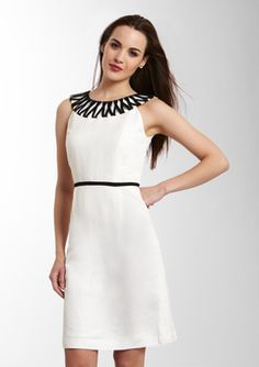 Black and white is just about my favorite fashion combo!  Tahari Arthur S. Levine