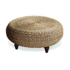 With natural brown banana core construction, this contemporary design fits well with all styles. Used as a beautiful ottoman or coffee table, the frame of this piece is made of plantation-grown hardwood which adds to its durability.