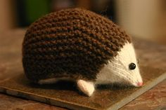 knit hedgehog