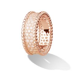 Perlée diamond ring PERLÉE Pink Gold, Diamond