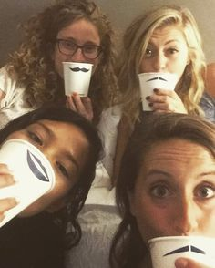 Hotel sleepover with my bebes! You gals sure make a girl feel loved  #bffs #hotelparty #imustacheyouaquestion by hannahoneal