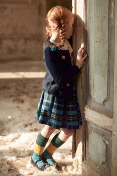 CARDIGAN WITH MULTICOLOURED POM POMS - BLUE - Special Landing | Il Gufo  #pompoms #ilgufo #ilgufobelievesinmagic #aw17 #fashionkids #fashiongirls #babyboy #babygirl #babyoutfit #babystyle