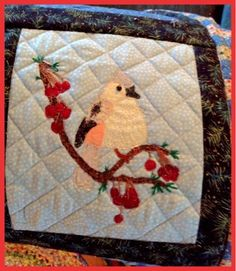 Lucine's: Christmas #Quilt #bird #applique #christmas quilt #Lucine