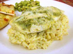 Plain Chicken: Pesto Chicken and Creamy Rice
