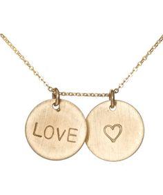 Max & Chloe Nashelle love heart necklace