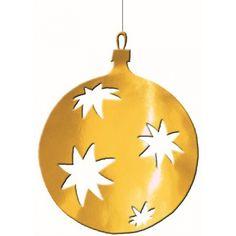 Gouden kerstbal hangdecoratie 30 cm bij Fun-en-Feest.nl. Online Grote etalage decoraties bestellen, levering uit voorraad. Gouden kerstbal hangdecoratie 30 cm