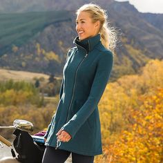 Cherry Creek Jacket | Athleta - so cute! and it has thumb holes!
