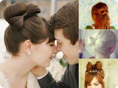 Schleifenfrisur für Hochzeit/ wedding hair bow