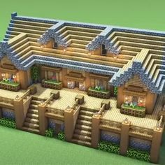 Minecraft Farmen, Casa Medieval Minecraft, Minecraft House Plans, Minecraft Houses Survival, Minecraft Cottage, Easy Minecraft Houses, Minecraft House Tutorials, Minecraft House Designs, Minecraft Decorations