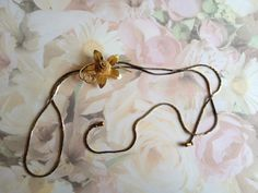 Lariat Necklace Gold and Silver Vintage Jewelry by annimae182