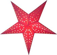 Hearts and Stars Paper Star Light (Bright Pink): Amazon.com: Home & Kitchen